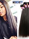 """3 pièces / lot 8 """"-30"""" cheveux vierge 7a extensions de cheveux droites péruvienne 100% remy non transformés tissages de cheveux humains"""