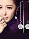 Cercei Picătură imitație de diamant La modă Elegant Plastic Cristal Diamante Artificiale Minge Argintiu Bijuterii PentruNuntă Petrecere