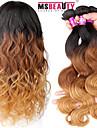 """3 pièces / lot 16 """"-24"""" vierge couleur de cheveux ombre indien 7a 3t 1b / 4/27 # vague de corps cheveu humain tisse"""