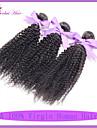 les cheveux de vague non transformés 7a indien vierge afro crépus cheveux bouclés armure coquins indien bouclés faisceaux de cheveux