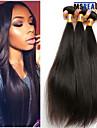"""3 st / lot 8 """"-22"""" 8a malaysiska jungfru hår rakt hårträns 100% obearbetat remy människohår väver"""