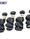 """4 st / lot 12 """"-28"""" 6a peruanska jungfru hår löst våg människohår väft 100% obearbetat peruanska remy hår väver"""