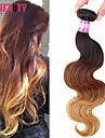 """1 st / lot 16 """"-24"""" 7a 3t peruanska jungfru hår förkroppsligar vinkar människohår väft 100% obearbetat peruanska remy hår väver"""