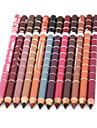 Crayons à Lèvres Sec Crayons Gloss coloré / Longue Durée / Naturel / Séchage rapide / Respirable Noir / Marron / Rouge