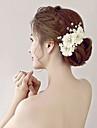 Femei Fata cu Flori Ștras Imitație de Perle Organza Material Textil Diadema-Nuntă Ocazie specială Flori 1 Bucată