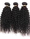 3 buntar kinky lockigt peruanska jungfru hårförlängningar Inslag människohår väva mycket