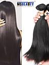 """3st / lot """"8-30"""" peruanska jungfru håret rakt hårförlängningar 100% obearbetat remy människohår väver"""