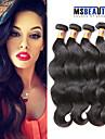 """4 st / lot 8 """"-20"""" 8a brasilianska jungfru hår förkroppsligar vinkar människohår väft 100% obearbetat brasilianskt remy hår väver"""