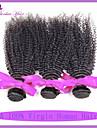 peruanska vinkar djupt 3 buntar lockigt väva mänskliga hårförlängningar peruanska kinky lockigt jungfruligt hår