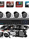 yanse® 4ch 960h CCTV DVR kit ir färg vattentät kamera övervakningskameror systemet 1000tvl 719cf04