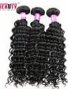 """3 st / lot 8 """"-30"""" 7a malaysiska jungfru djup våg hårförlängningar 100% obearbetat jungfru människohår väver"""