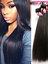 """3 st / lot 8 """"-30"""" 7a brasilianska jungfru raka hårförlängningar 100% obearbetat jungfru människohår väver"""