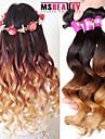 """3 st / lot 16 """"-24"""" 7a 3t brasilianska jungfru lös våg hårförlängningar 100% obearbetade jungfru mänskliga ombre hår väver"""