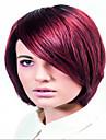 charmiga colorized kort syntheic peruk förlängningar kvinnor dam mode stil