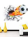 Bande dessinée / Romance / Sports / 3D Stickers muraux Stickers muraux 3D Stickers muraux décoratifs,PVC MatérielLavable / Amovible /