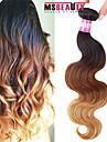 """1 pc / lot 16 """"-24"""" 7a 3t brésiliens vierges vague de corps de cheveux de cheveux humains trames de 100% les cheveux remy brésiliens tisse"""
