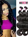 """3 st / lot 8 """"-30"""" 7a peruanska jungfru hår vågigt hårförlängningar 100% obearbetat remy människohår väver"""