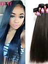 """3 st / lot 8 """"-30"""" 7a malaysiska jungfru raka hårförlängningar 100% obearbetat jungfru människohår väver"""