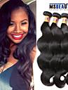 """3 st / lot 8 """"-20"""" 8a malaysiska jungfru hår vågigt hårträns 100% obearbetat remy människohår väver"""