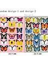 3d väggdekorationer väggdekaler, 19pcs färgglada fjärilar pvc vägg klistermärken