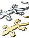 ziqiao 3d ren metall gecko klistermärken personlighet klistermärke bil dekoration