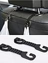 ziqiao® 2st mångsidiga bärbara bil baksätet nackstöd hängare innehavaren krokar för väskan tyg specerihandlare