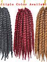 Bleu La Havane Tresses Twist Extensions de cheveux 22inch Kanekalon 2 Brin 120g/pcs gramme Braids Hair
