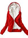 Damă hanorac Jacheta Plus Size Casul/Zilnic Mată Bumbac Micro-elastic Manșon Lung Primăvara Toamnă