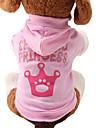 Pisici / Câini Hanorace cu Glugă Roz Îmbrăcăminte Câini Primăvara/toamnă Tiare & Coroane Drăguț / Modă