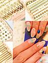 Abstrakt / Punk - Finger / Tå - 3D Nagelstickers - av Andra - 6 - styck 10.5X7X0.6 - cm