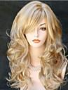 longs bouclés animés courts perruques de cheveux synthétiques blonds perruque de bande dessinée populaire