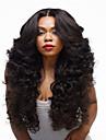 longues perruques frisées couleur noire vente chaude supérieure synthétique de qualité