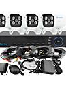 yanse® 4ch 960h 1000tvl CCTV DVR kit ir kamera färg vattentät övervakningskameror systemet 3.6mm 720cf04
