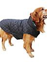 Hundar Kappor Väst Röd Grön Brun Beige Hundkläder Vinter Vår/Höst Pläd/Rutig Håller värmen Vändbar
