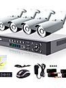 liview® 4ch hdmi 960h nätverk dvr 900tvl utomhus dag / natt säkerhet kamerasystem