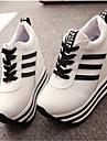 Pantofi pentru femei-Pânză-Toc Pană-Wedges-Teniși la Modă-Casual-Negru / Roșu / Alb