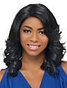 lång längd våg hår europeisk väva ljus svart färg hår peruk