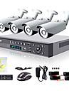 liview® 8ch hdmi 960H 4x DVR réseau extérieur 700TVL système de caméra de sécurité jour / nuit