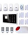 gsm PSTN inbrottstjuv anti stöld inkräktare hus säkerhet larmsystem sim kort Alarma systemet android + trådlösa strobe siren