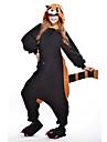 Kigurumi Pijamale noul Cosplay® Urs Raton Leotard/Onesie Festival/Sărbătoare Sleepwear Pentru Animale Halloween Negru Peteci Lână polară