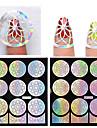 1pcs hollow nail sticker template-Moules 3D en  acrylique pour ongles-Doigt / Orteil- enFleur-9*10.5cm
