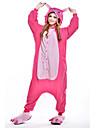 Kigurumi Pyjamas nya Cosplay® Trikå/Onesie Festival/högtid Pyjamas med djur halloween Rosa Lappverk Polär Ull Kigurumi För Unisex