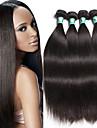 """4 st / lot 8 """"-30"""" brasilianska jungfru hår rakt mänskliga hårförlängningar 100% obearbetat brasilianska remy hår väver"""