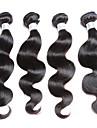 Human Hår vävar Brasilianskt hår Kroppsvågor 4 delar hår väver