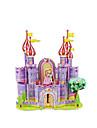 Puzzles Puzzles 3D Building Blocks DIY Toys Château Papier Violet / Jaune Maquette & Jeu de Construction
