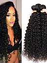 4bundles 8-26inch brasilianska jungfru hår djupt lockigt färgar 1b # obearbetad råjungfru människohår väver