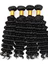 Tissages de cheveux humains Cheveux Brésiliens Bouclé 4 Pièces tissages de cheveux