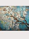 HANDMÅLAD Abstrakt / Blommig/BotaniskModerna En panel Kanvas Hang målad oljemålning For Hem-dekoration