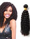 4 st hel peruanska kinky lockigt jungfru hår 100% äkta hår väva buntar billiga peruanska djupa lockigt våg hårförlängningar