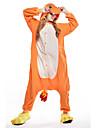 kigurumi Pyjamas New Cosplay® / Dragon Collant/Combinaison Fête / Célébration Pyjamas Animale Halloween Orange Mosaïque Polaire Kigurumi